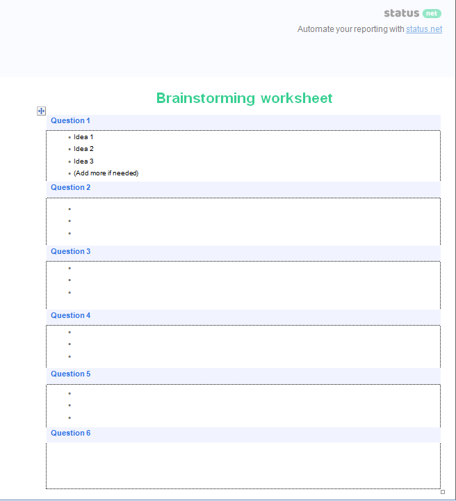 Brainstorming Templates 3