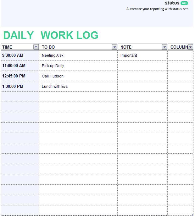 2 Easy-To-Use Daily Work Log Templates | Free Download