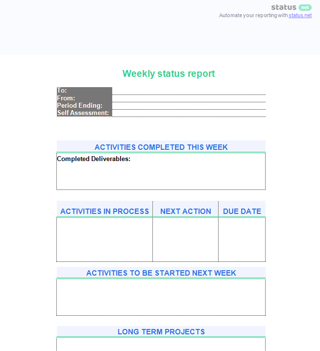 department report template