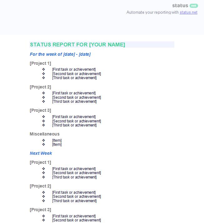 Employee Status Report 2