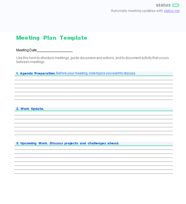 general meeting template 2