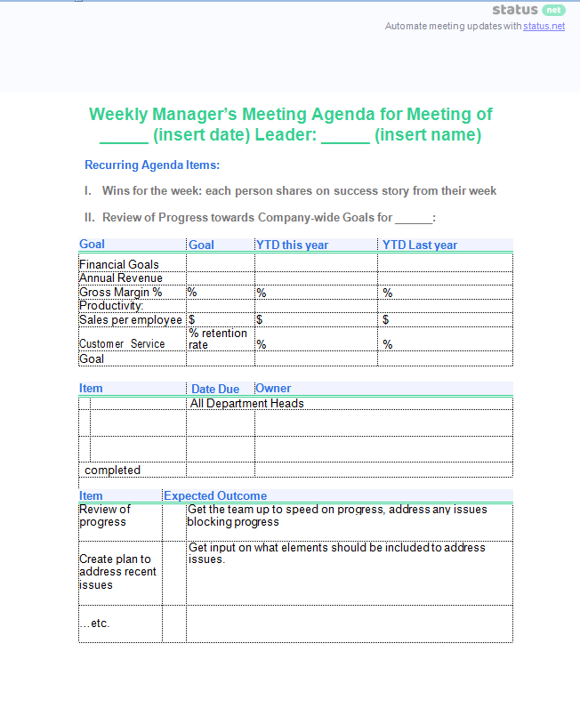 5 Tips for an Effective Leadership Meeting [2 Free Sample Agendas]