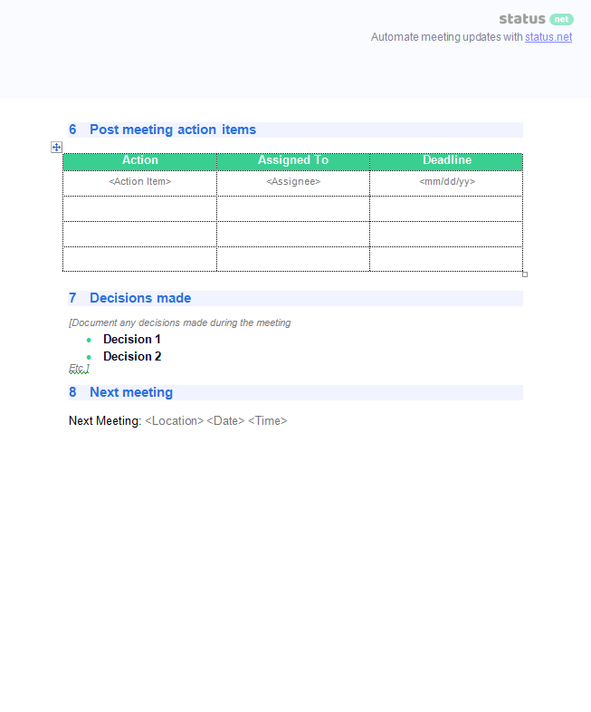 Meeting Minutes Templates 2 Meeting Minutes Templates 2 Screen P2  Minutes Templates