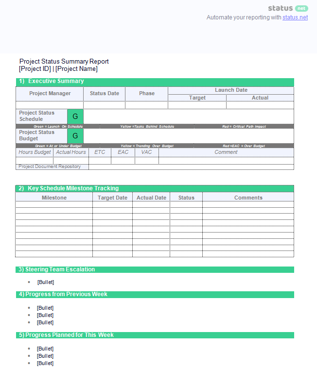 Delightful Project Summary Report: Free Download Section With Project Summary Template