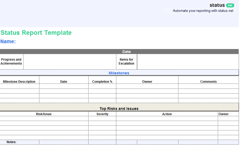 4 Types Of Scrum Reports Free Template Download