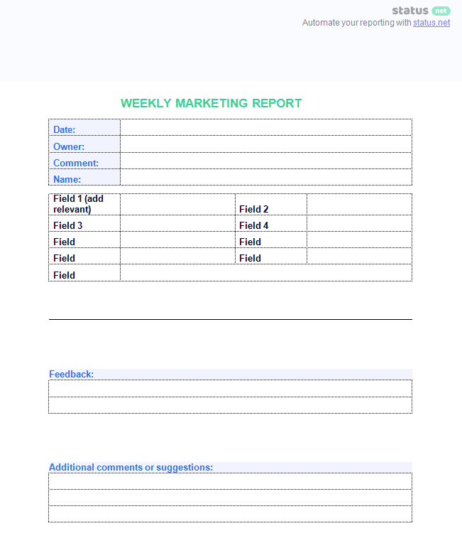 10 outstanding templates of weekly reports free download